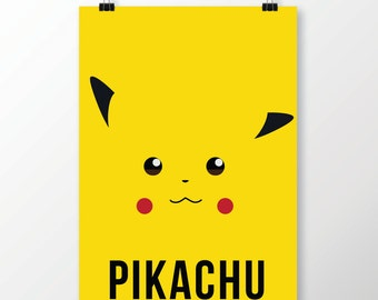 Pikachu Pokemon Minimalist Poster