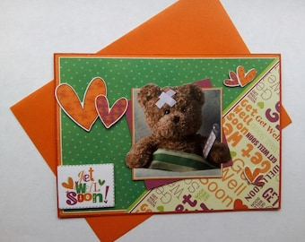 Brown Teddy bear card