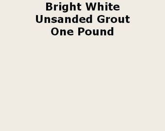 Mosaic Grout UNSANDED NON-SANDED Bright White  One Pound