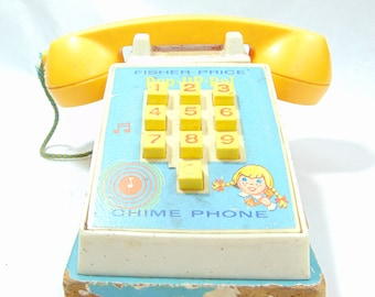 1960s, 1960s Toys, Fisher Price, Fisher Price Toys, Fisher Price Vintage Toys, Vintage Fisher Price, Fisherprice, Fisher Price Phone
