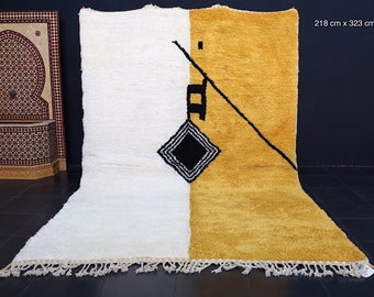 Authentic Moroccan rug 7.1ft x 10.5ft Large beni rug. all handmade by 100% genuine wool
