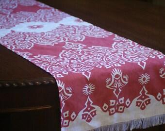 Table runner Table runner hand printed Block printed by hand with water based ink Hand printed textile Hand printed linen Table linen