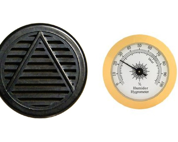 Hygrometer and Humidifier combo pack, Round Humidifier, Glass Top Hygrometer, not Digital
