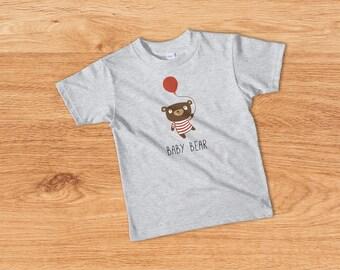 Kids Clothing, Baby Bear T-shirt, Cute Toddler Outfit, Kids Tee, Kids T-shirt, Cute Toddler Tee, Funny Toddler Tshirt, Toddler Gifts