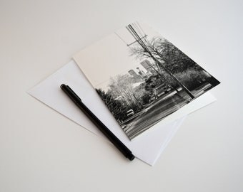 Downtown calgary card yyc city photo black white greeting notecard black white greeting cards calgary city photo set of blank cards with envelopes m4hsunfo
