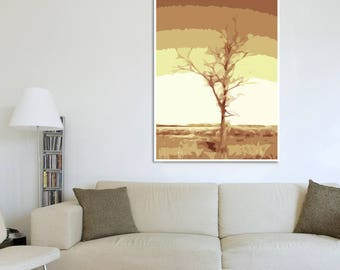 Abstract tree covered with gold