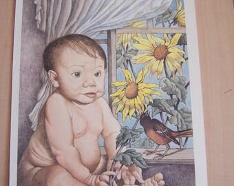 Maurice Sendak Print The Baby by the Window