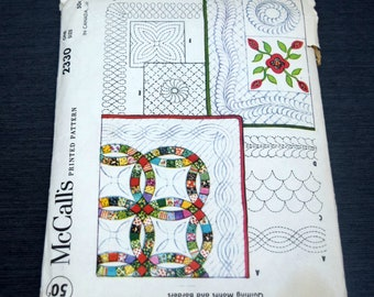 McCalls 2330 Patchwork Applique Quilt Blocks Pattern Quilting Motifs and Borders