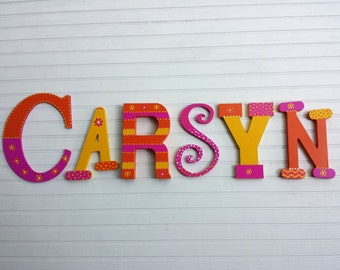 Name Wall Letters - Kids Name - Wall Initials - Mixed Font - Nursery Letters