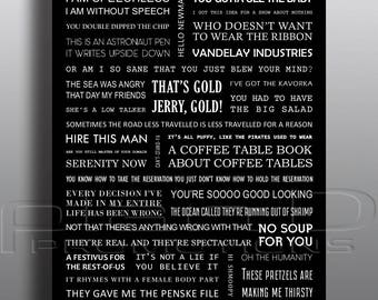 SEINFELD quotes poster - A3