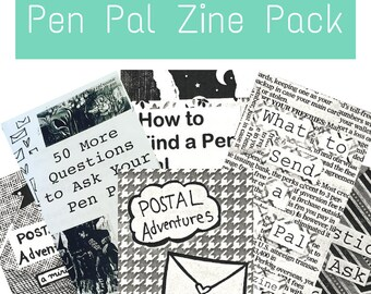 Pen Holder Pal Zine Pack: Happy Mail organizer Zines for Pen Pals, Letter Writers, Postal Freaks, Snail Mail Afficionados, Creative People
