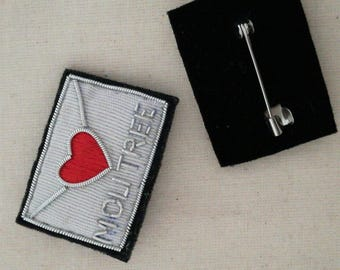Embroidered patch Pocket love