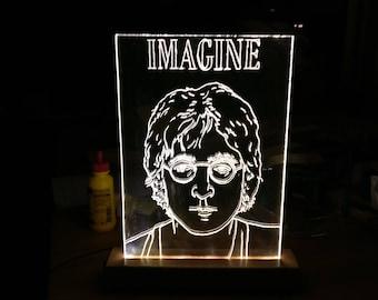 Handmade imagine John Lennon lamp--One in the world!
