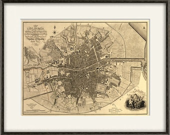 Dublin Map Etsy - Old maps of dublin