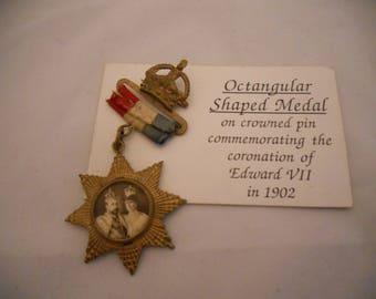 Edward Vii commmorative pin 1902