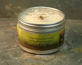 Soy Candle Tin - 8 oz in Badde Guys Scent