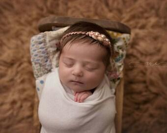 Newborn Pearl Headband-- Newborn Tieback-- Newborn Photography Prop