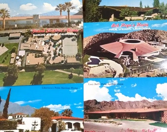Lot of Vintage Postcards of Hollywood Stars Palm Springs Homes