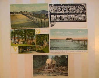 POSTCARD, 5 Vintage Old Orchard Beach, Maine Postcards