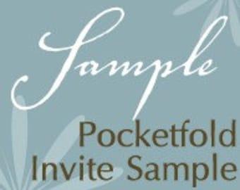 Everlasting Invites Pocketfold Invitation Sample