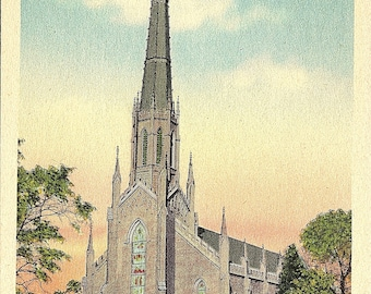 Postcard - Vintage Postcard - Columbia - South Carolina - First Presbyterian Church - Unused (G1)