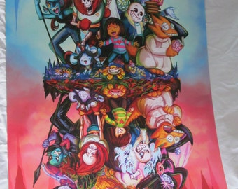 Old stock - must go!SALE! Undertale video game print A3 in size