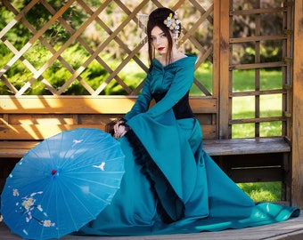 Dress in oriental style, Dress for halloween,Dress Party Costumes, Fantasy dress,Cosplay dress