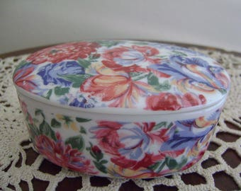 Vintage Porcelain Flower Dish Japan