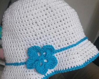 bob cotton shape, 3 months, handmade hat (can make other sizes and/or colours)