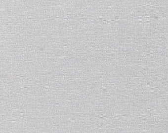Light Grey Linen Fabric, Silver Brussels Washer Linen, Robert Kaufman Fabric, washable linen fabric