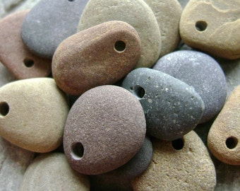 Natural Beach Stones - Drilled Beads-Charms from Lake Erie