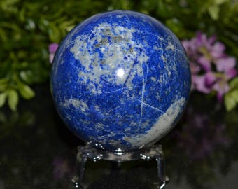 Lapis Lazuli Sphere 78 MM, Sphere Stand Included