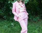 Pink Power Suit Pants - Handmade by Alice