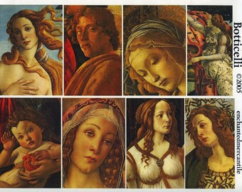 Botticelli Collage Sheet - Gorgeous Images for Collage, Altered Art, Visual Journals, ATCs