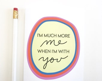 Sweet valentines day card. Card for Valentine. Card for boyfriend. Card for girlfriend husband wife. Love card. Anniversary card.