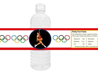 Winter Olympics 2018 Water Bottle Labels, Olympic party favors,  Winter Olympic Party, Olympic water bottle labels.