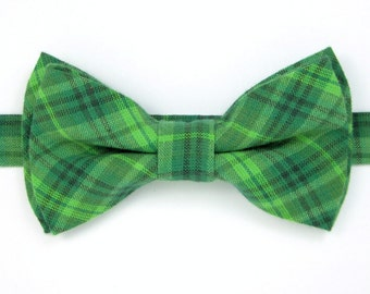 St Patrick's Day bow tie,Green plaid bow tie for Men ,Toddlers ,Boys,Baby