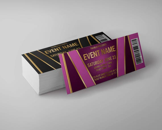 Tickets Template concert ticket gala ticket party ticket