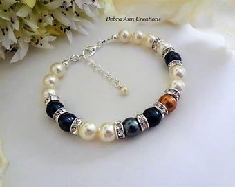 Family Bracelet Mothers Pearl Birthstone Bracelet for Nana Grandma Birthstone Jewelry Mothers Day Gift for Gram Personalized Jewelry For Mom