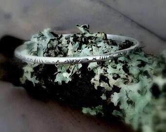 Cuff, hand stamped cuff, sterling silver cuff, bracelet, stamped jewelry, sterling silver jewelry, handcrafted cuff, stacking cuff