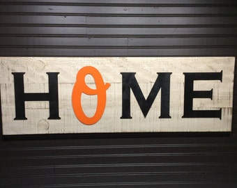 Large Baltimore Orioles HOME plaque, sign