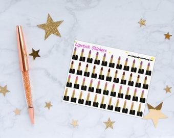 Lipstick Planner Stickers, Makeup Stickers, Fashion Stickers, Vinyl Stickers