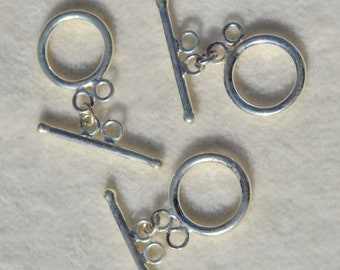 Sterling Silver Toggle Clasp- Lot 294