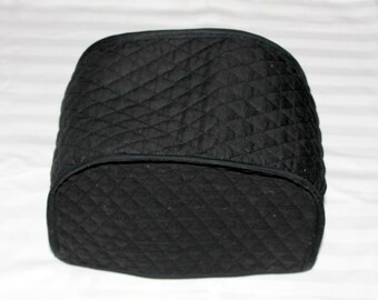 2-Slice Toaster Cover - Small Toaster Cover - Kitchen Accessory Cover - Quilted Toaster Cover - Black