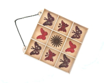 Handmade Wooden Hanging Jewelry/Trinket Holder - READY TO SHIP