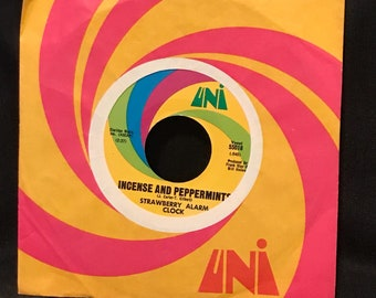 Vintage 45 Record Incense and Peppermints by Strawberry Alarm Clock