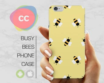 Gold Bumblebee Phone Case / iPhone 5s Case / iPhone 7 Case / 6S, 6, 5, SE, Plus Case / Samsung Galaxy S8, S7, S6 Gift Case - PC-133