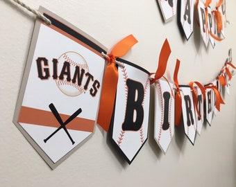 Custom Baseball Themed Birthday Banner