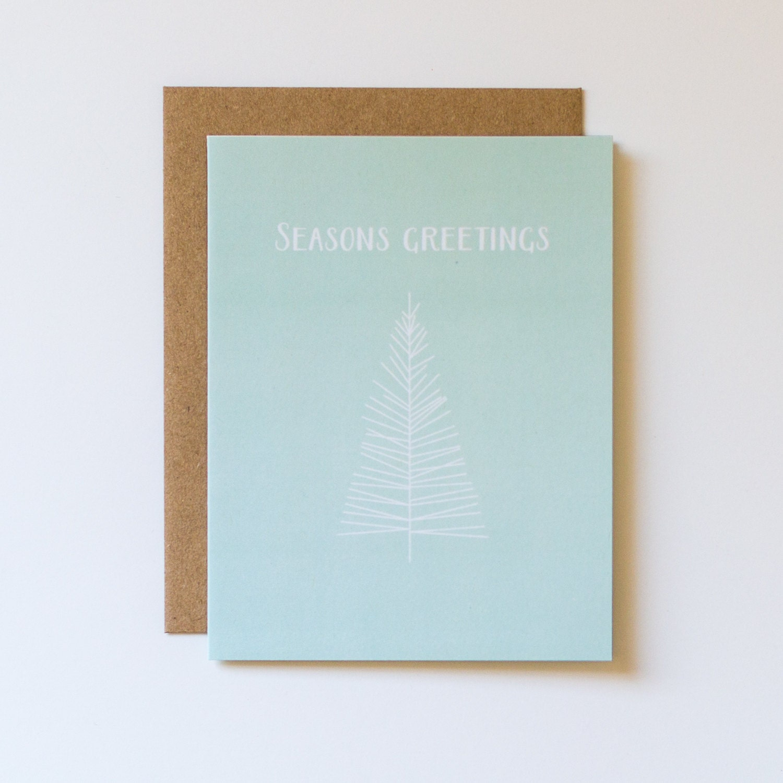 Sale Seasons Greetings Card Christmas Card Modern Holiday