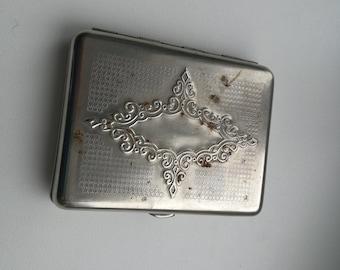 Vintage USSR Soviet Metal Cigarette Case